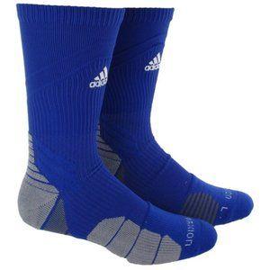 adidas Menace Crew Socks Blue Grey XL 12-16 Soccer